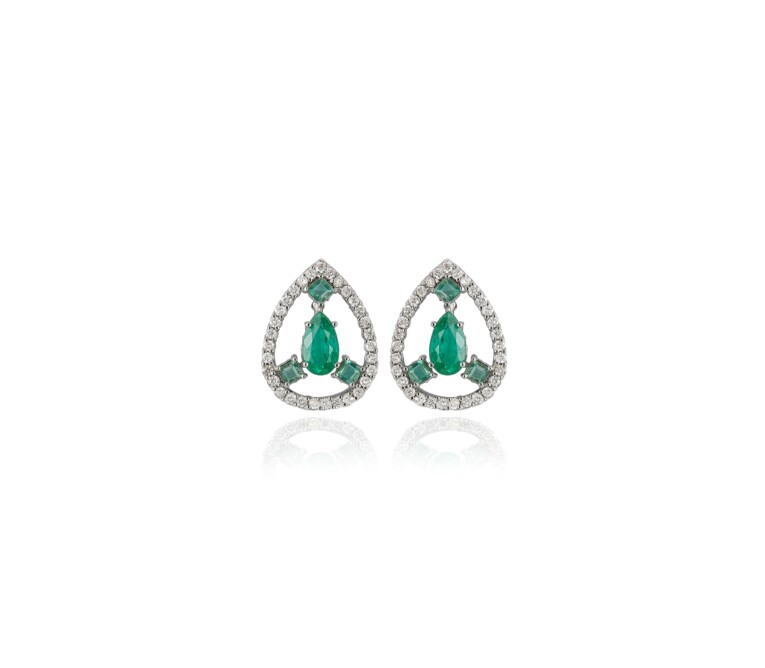 Brinco Esmeraldas e Diamantes